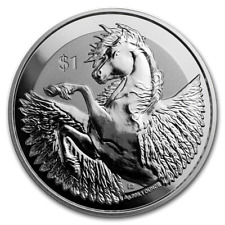 2019 - 1 - OZ - PURE .999 SILVER - PEGASUS - FROSTY - REVERSE PROOF COIN - $9.99