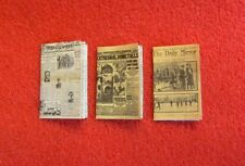 Dolls House Miniature 1:24th Scale set of 3 Newspapers (S4)