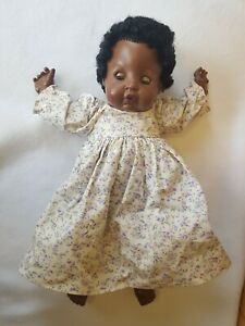EEGEE GOLDBERGER 20 Inch Black Baby Doll African American in Handmade Dress