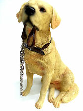 Labrador Sitting with Chain Dog Ornament Figurine Statue New Boxed