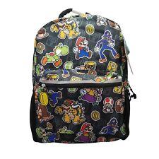 Nintendo Backpack Super Mario Luigi Yoshi Character Black