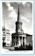 *All Souls Church Langham Place London England Uk Vintage Photo Postcard C84