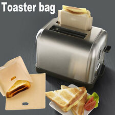 Sandwich Toaster Toast Bags Non-Stick Reusable Safety Heat-Resistant 2pcs !!