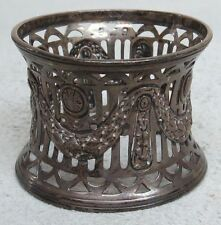 Vintage 1907 Birmingham Sterling Silver Reticulated Napkin Ring