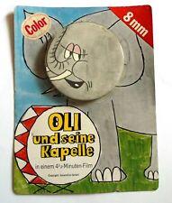 Film 8mm ds Son Emballage Oli l'éléphant & son orchestre(Film Animalier) An.1960