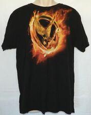 Hunger Games Mocking Jay Logo T-shirt  Black Size L Large