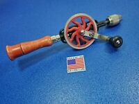 MILLERS FALLS 2-01 HAND DRILL COMPLETE W/ BITS VINTAGE COLLECTIBLE HAND TOOL LOT