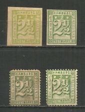 Germany Hamburg 1866 year mint MNG stamps oWZ 4v