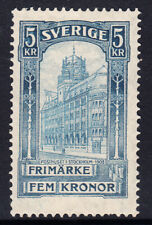 SWEDEN - 1903 5k blue Stockholm Post Office, SG57 £190  Mint Lightly Hinged