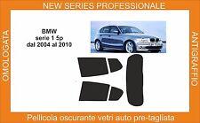pellicola oscurante vetri bmw serie 1 5p dal 2004-2010 kit posteriore