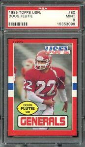 1985 Topps #80 Doug Flutie RC PSA 9 New Jersey Generals