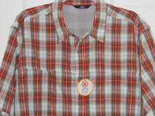 Wrangler Outdoors Lightweight Short Sleeved Shirt in Red / Grey Check Size 2XL