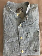 Abercrombie Men's Blue Chambray Shirt Small Neuf avec étiquette