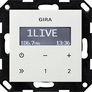 Gira 228403 UP-Radio RDS ohne Lautsprecher System 55 Reinweiß glänzend ( R34668)