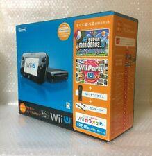 USED Nintendo Wii U Console Family Premium Set Black JAPAN import Japanese