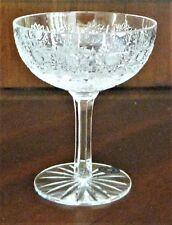 Bohemia Crystal Flat Champagne Glass 160ml, Hand Cut, Czeck Republic