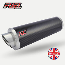 TL1000 R/S F1R Road Carbon Fibre Round Midi UK Road Legal Exhausts + Black Bkts