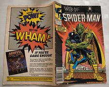 WEB OF SPIDER-MAN Comic - Date 25 avril /1987 - Marvel Comics