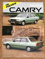 1983 TOYOTA CAMRY UK PREVIEW Sales Brochure - Excellent Condition