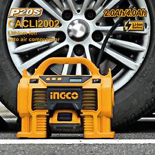 INGCO Air Compressor Car Tyre Deflator Inflator Pump 160PSI Auto Stop & Fittings