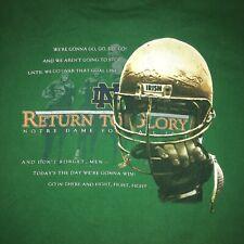 Notre Dame Football 2002 RETURN TO GLORY T-Shirt sz XL NCAA FOOTBALL