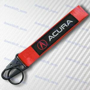 Universal Keychain Metal key Ring Hook Strap Lanyard Nylon for ACURA Brand New