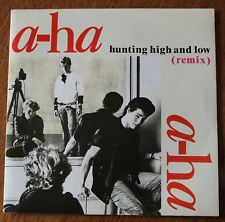 A-ha, hunting high and low (remix) / the blus sky, SP - 45 tours France