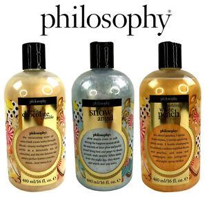 3 Philosophy Shampoo Shower Gel & Bubble Bath Items Vanilla Chocolate Crumble +