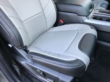 Ford F150 Super Crew Xlt Katzkin Limited Style Leather Seat Covers Black Amp Gray