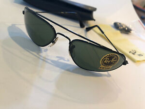 New* Ray-Ban W2356 Bausch & Lomb Fugitives Square Black Chrome Sunglasses