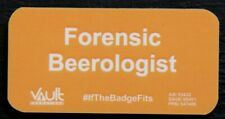 New listing 'Forensic Beerologist' Magnetic Badge Pin