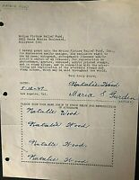 NATALIE WOOD 5X SIGNED ORIG. 1947 (AGE 8!!!) TRULY ONE-OF-A-KIND DOCUMENT!!!!!