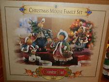 Grandeur Noel ~ Christmas Moose Family Set ~ Very Rare!