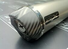 Triumph Tiger 1050 2006-2011 Titanium Round, Carbon Outlet Exhaust Can, Silencer