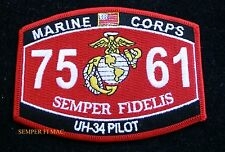 MOS 7561 UH-34 PILOT PATCH US MARINES PIN UP COIN WOW USS FMF GIFT
