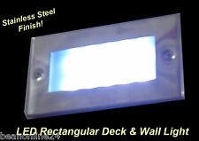 LED Rectangular Deck & Wall Light - Stainless Steel Finish