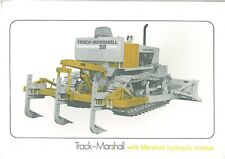 TRACK MARSHALL CRAWLER TRACTOR WITH HYDRAULIC TOOLBAR BROCHURE - BX105