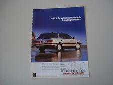 advertising Pubblicità 1990 PEUGEOT 405 SW