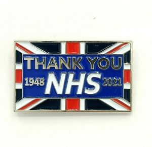 2021 Thank You NHS Union Jack Flag pin badge brooch gift Support Doctor Nurses