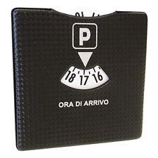 Disco orario Parcheggio Auto con involucro stile carbonio 10x10cm GEV