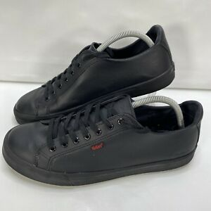 Kickers Tovni Lacer Leather Mens Black Work Shoes Size UK 9.5 EU 44 READ BELOW