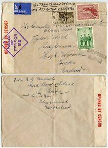 AUSTRALIA LORD HOWE ISLAND 7-8 DEC 1941 PACIFIC CALIFORNIA CLIPPER CENSOR 914