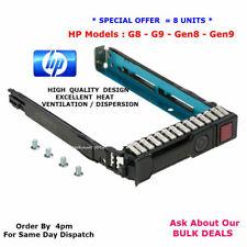 """8 x HP 651687-001 2.5"""" SAS / SATA Hot-Swap Hard Drive Caddy.G8.G9.G10.Gen8.Gen9"""