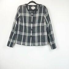 Merona XXL Womens Black White Check Plaid Coat