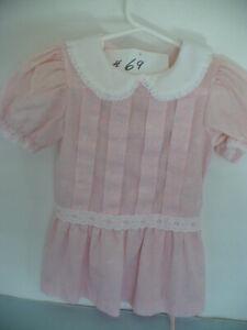 VINTAGE GIRLS PINK  DROPWAIST DRESS -SIZE 2T   #69