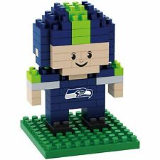 Seattle Seahawks BRXLZ Team Player 3-D Puzzle Construction Toy New - 89 Pieces
