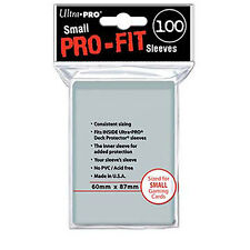 100 Ultra Pro-Fit Small Mini Perfect Inner Card Soft Sleeve Yugioh Deck 82713