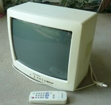 "2002 Sharp 13N-M150B Small 13"" Color Television TV with Remote White Case"