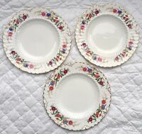 "3 Royal Crown Derby ""Chatworth"" Plates 8 1/2 inch A 798  (892)"