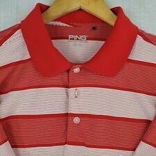 PING SensorCool Size 2XL Mens Short Sleeve Polo Golf Shirt Red White UV+ XXL